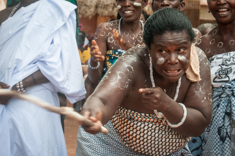 Woman during traditional dance in Lome, Togo