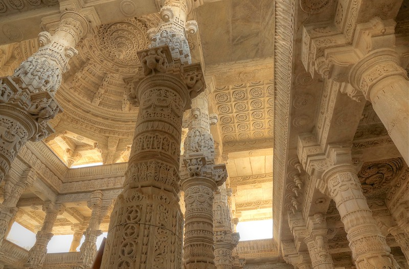 The astonishing amount of intricate detail was simply mind-blowing! - Ranakpur Jain Temple