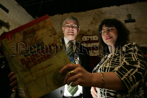 Pictured at the opening of Bagenal's Castle are Mayor Michael Carr and Museum Curator Noreen Cunningham. 07W13N23