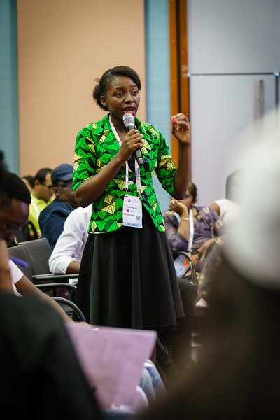 22nd International AIDS Conference (AIDS 2018) Amsterdam, Netherlands.   Copyright: Matthijs Immink/IAS  Young people at the centre: Community mobilization for youth-friendly HIV services  On the photo: Grace Ngulube