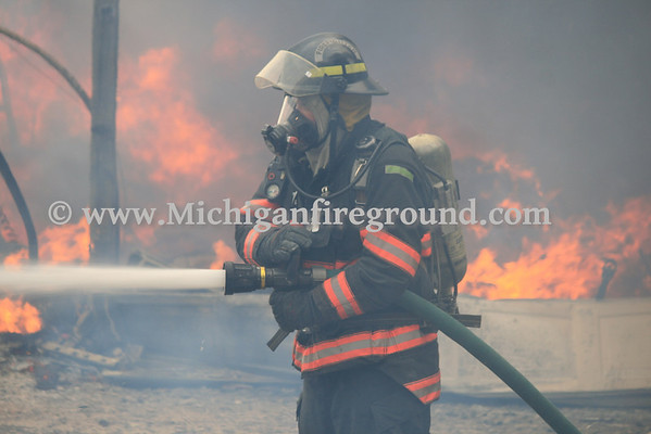 4/10/14 - Onondaga pole barn fire, 3620 S. Edgar Rd