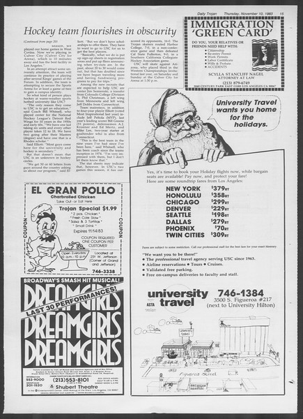 Daily Trojan, Vol. 94, No. 47, November 10, 1983