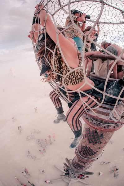 This is one of my favorites from Burning Man 2014. Climbing art and getting up high for a view significantly changes perspective of the Black Rock Desert