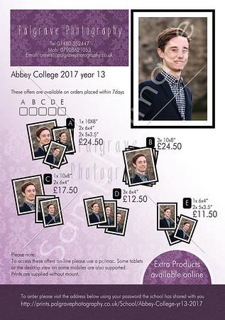 Abbey College yr13 2017