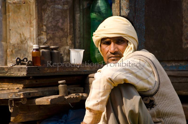 Turbaned Man Kathmandu, Nepal