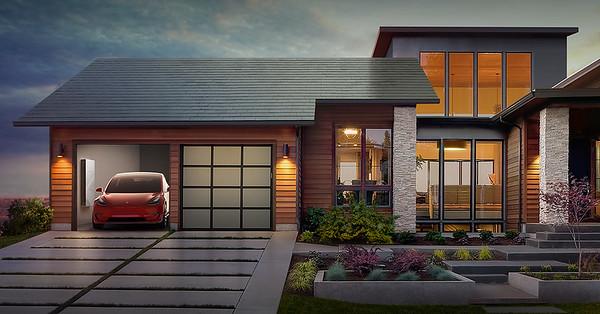 TESLA Solar Roofing Photos