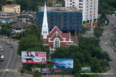 Yangon from the Sakura Tower - August 2010
