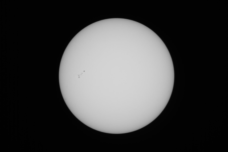 Sun with Sunspots - 7/11/2020 (Processed stack)