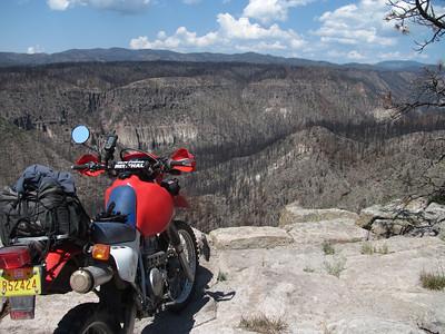 Jemez Mtns. - Dome Rd.-Las Conchas Fire area-FR 376 DS Ride  8-25-12