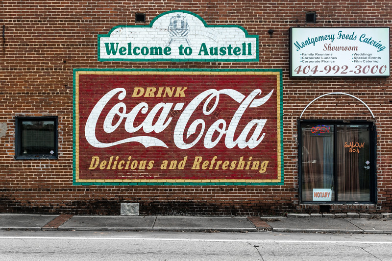 GA, Austell - Coca-Cola Wall Sign 02