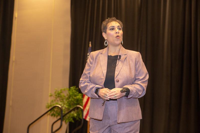 Guest Speaker Merlyna Valentine speaking at the Women's Brunch.