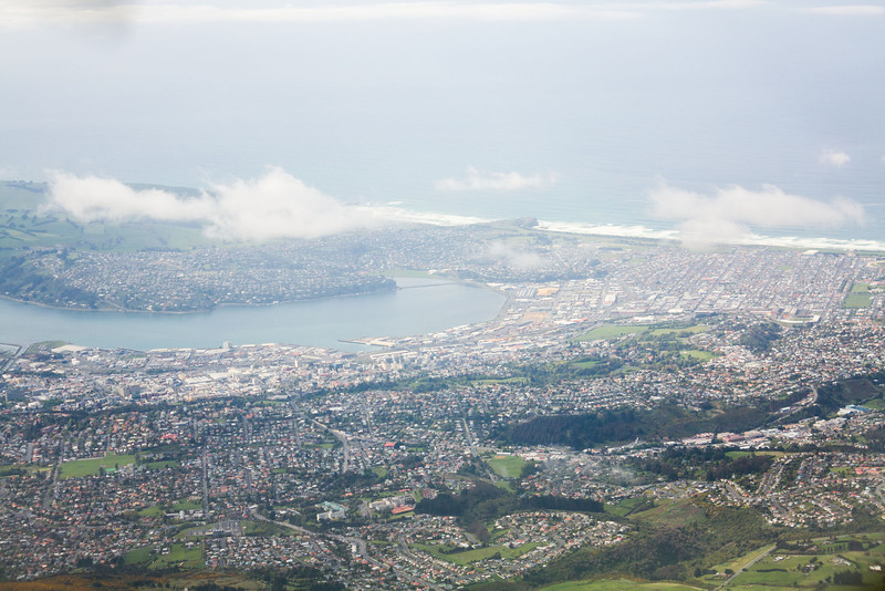 Passing over Dunedin on my way out