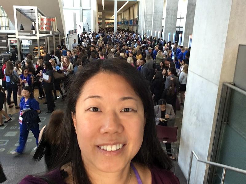 Liz Wong at WE17 Registration