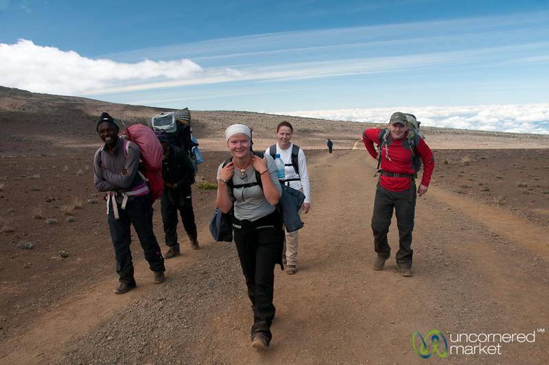 Climbing to Kibo Huts, Day 3 - Mt. Kilimanjaro, Tanzania