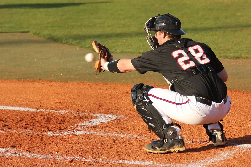 #28 John Harris gets the start as catcher in the first of a three game series against UNC-Asheville.