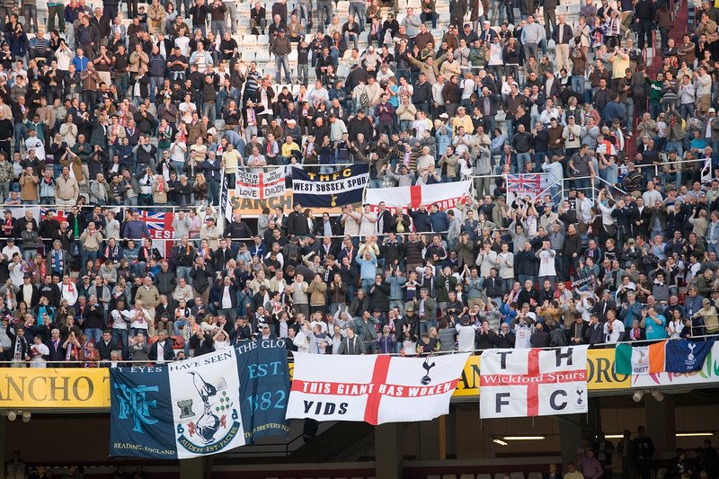 Tottenham fans on the stands