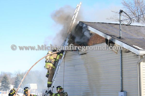 2/12/12 - Dansville house fire, 2395 E. Dexter Tr.
