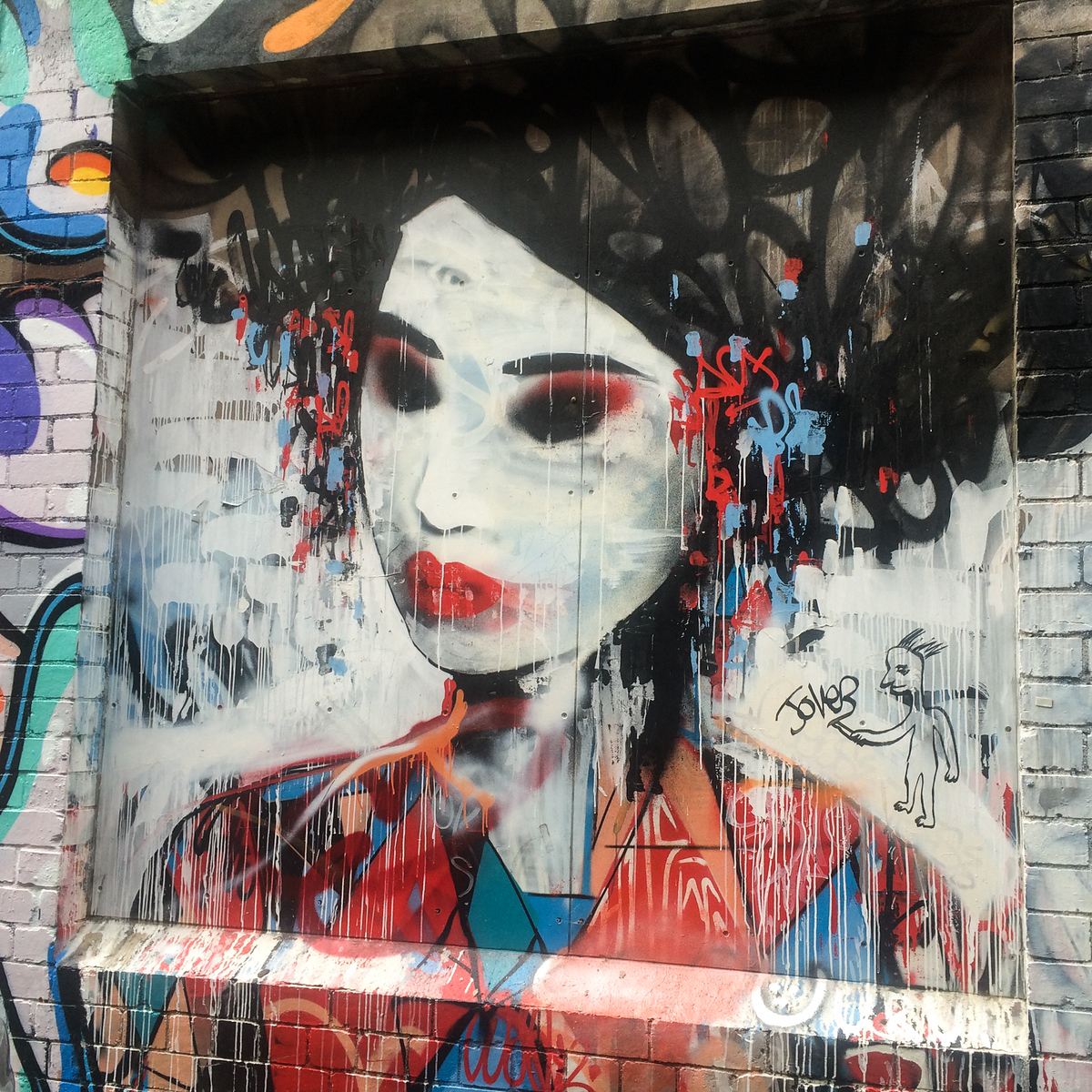 Japanese Lady Graffiti Street Art Melbourne