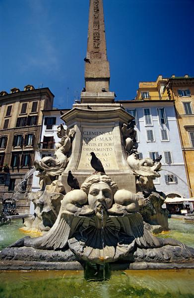 Pantheon Fountain, Piazza della Rotonda, Rome
