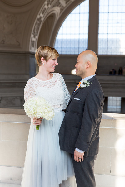 Melissa & Peter City Hall Wedding