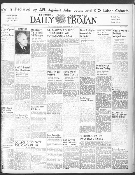 Daily Trojan, Vol. 28, No. 144, May 26, 1937