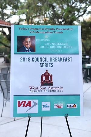 2018 West Chamber breakfast GREG BROCKHOUSE Councilman cam 1