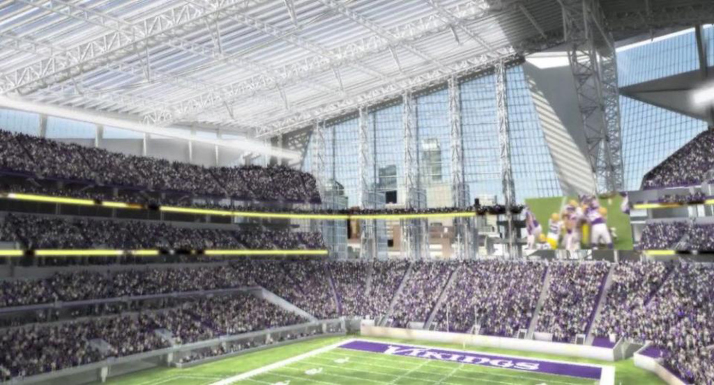 . A rendering of the interior of the new Vikings stadium, released on Monday May 13, 2013. (Courtesy Minnesota Vikings)
