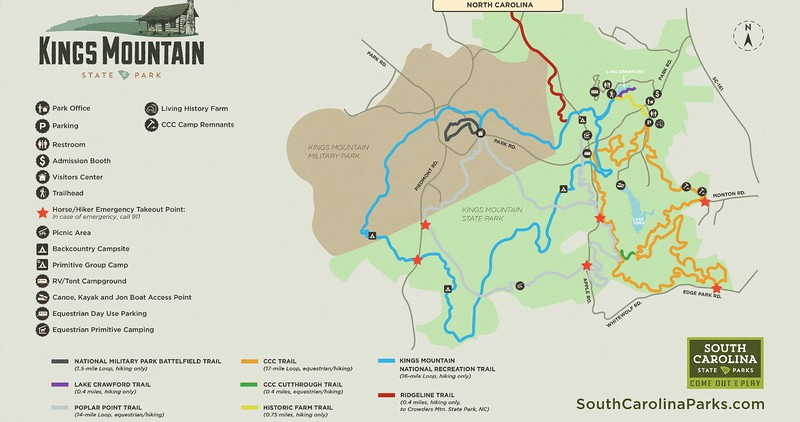 Kings Mountain State Park (Trail Map)
