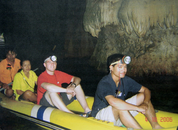 Rafting in the caves near Phang Nga
