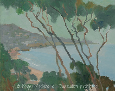 Painter's Point, La Jolla, 8x10, oil on panel, plein air  G0651