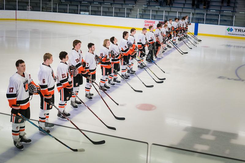 2018 Boys Varsity Hockey -V- Roseville 1st Playoff