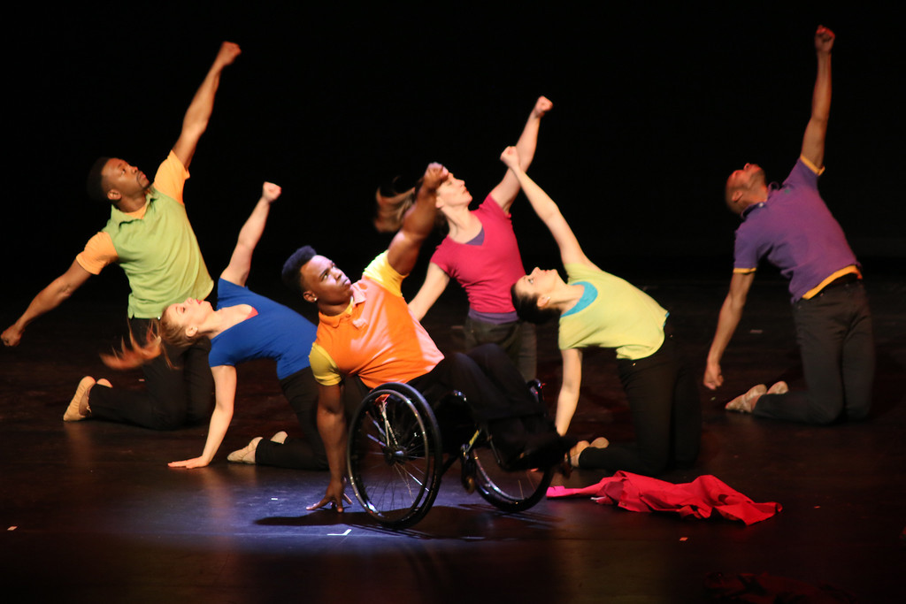 . Members of the Dancing Wheels Company perform at the Chagrin Falls Performing Arts Center in 2016. Dancing Wheels Company and School presents �Past, Present and Future of Integrated Dance� at 7:30 p.m. Nov. 4 at Saint Ignatius Breen Center. For more information, visit www.dancingwheels.org. (Jonathan Tressler - The News-Herald)