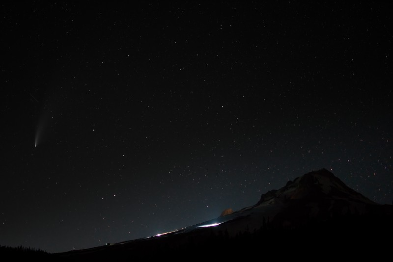 Neowise from White River Canyon - 2020/07/20
