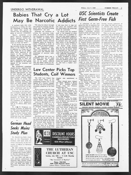 Summer Trojan, Vol. 17, No. 5, July 08, 1966