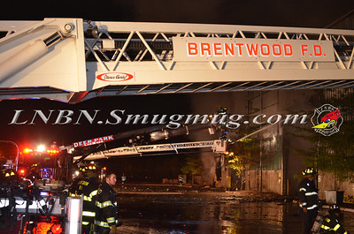 Brentwood F.D. Working Fire  80 Emjay Blvd. 10-22-13