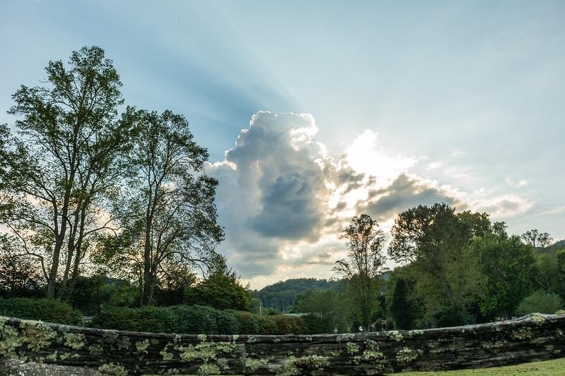 Sun rays appear from behind a cloud in Deep Creek, September 20, 2018. (Joseph Forzano / Deep Creek Films)