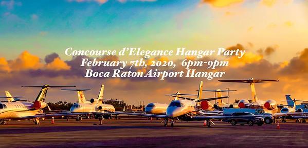 14th Annual Concours d'Elegance Hangar Party, 7 February 2020, Boca Raton, FL