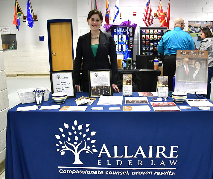 4/6/2019 Mike Orazzi | Staff Allaire Elder Law's Halley Allaire during the 5th Annual Connecticut Prime Time Senior Fair Saturday at Bristol Eastern High School.