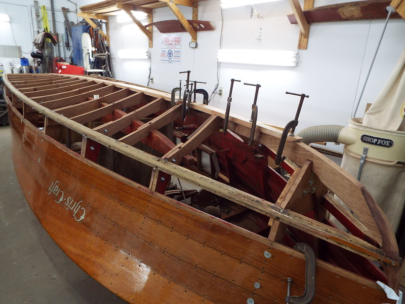 New keel glued in place.
