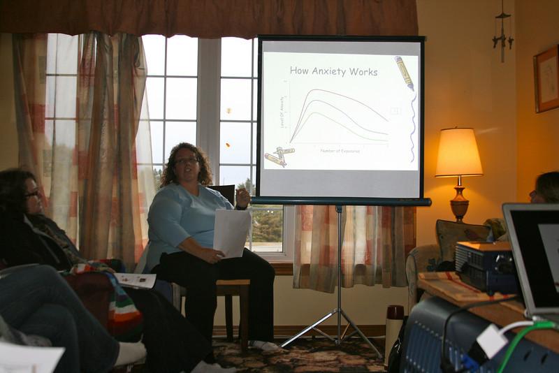 Dawn instructs a mental prep seminar.