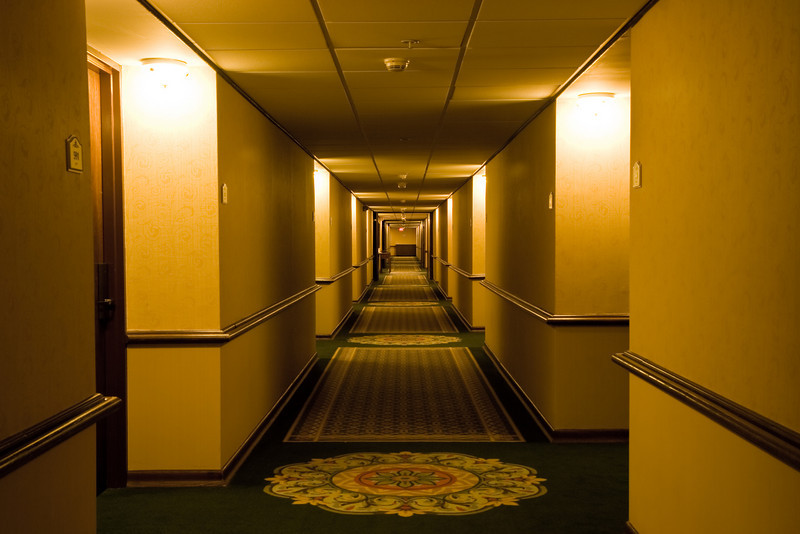 Hallway at the Crowne Plaza Hotel in Louisville, Kentucky