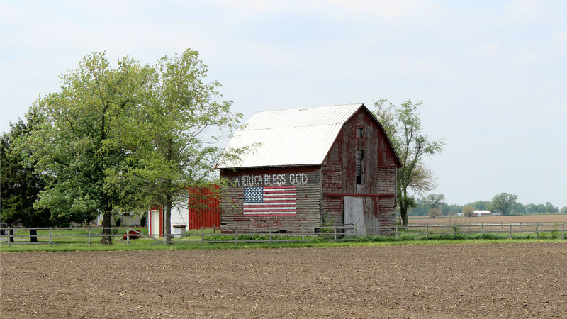 """Midwest Farm with a Message"" - Daily Photo - 06/23/13  Hope all have a nice peaceful Sunday!"