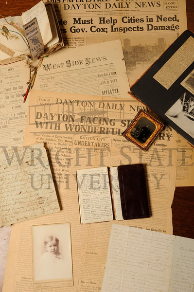 11695 Collage of archive items for Special Collections & Archives Brochure 6-13-13