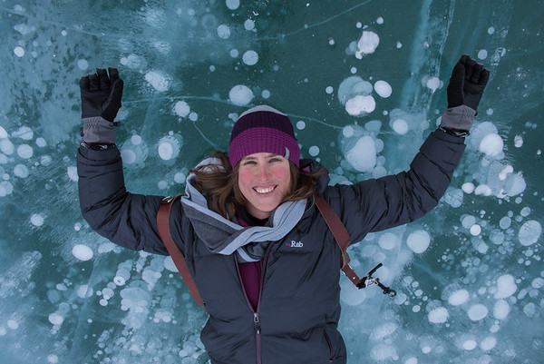 Kristin at Abraham Lake