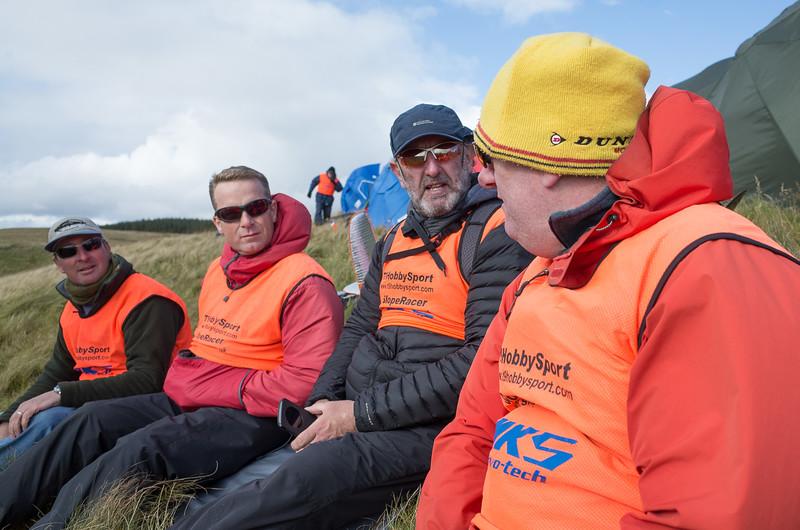 L-R: Graeme Mahoney, Martin Drewett, Tony Livingstone and Andy Burgoyne