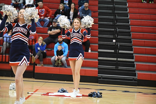 Cheerleaders - Ralston Basketball game
