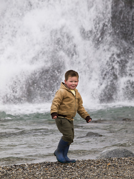 Adam didn't want to leave the waterfall.