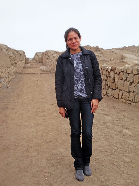 Ines standing where I presume her ancestors might once have stood.