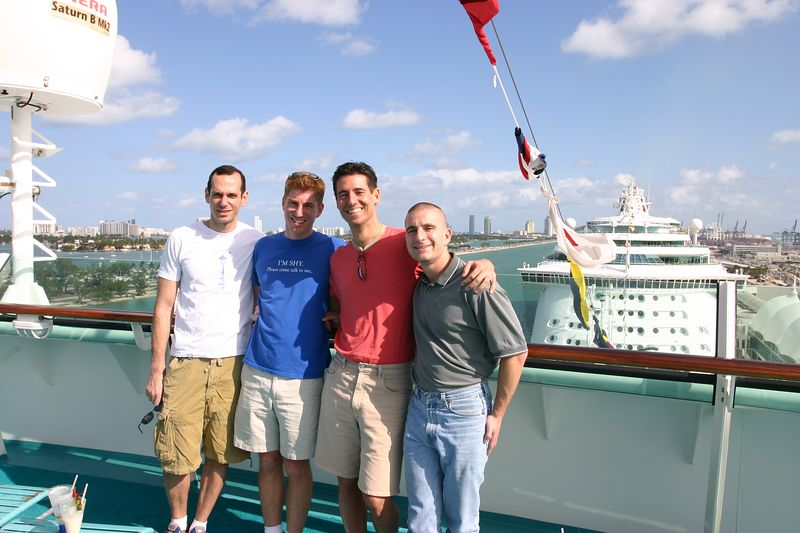 Bon Voyage!  Ted, Me, Mike, and David