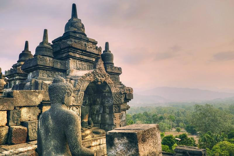 Sunset at Borobudur